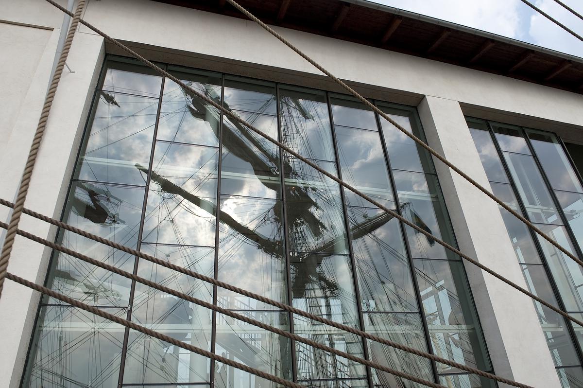 Marinmuseums arkitektur.
