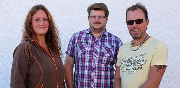 Marinmuseums tre pedagoger, Fredrik till vänster, Johanna i mitten och Peter till höger.